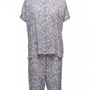 Dkny City Break S/Sl Top & Capri Set Pyjama