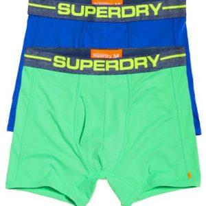 Superdry Sport Bokserit 2 Kpl Pakkaus Sininen