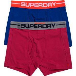 Superdry Sport Bokserit 2 Kpl Pakkaus Vaaleanpunainen